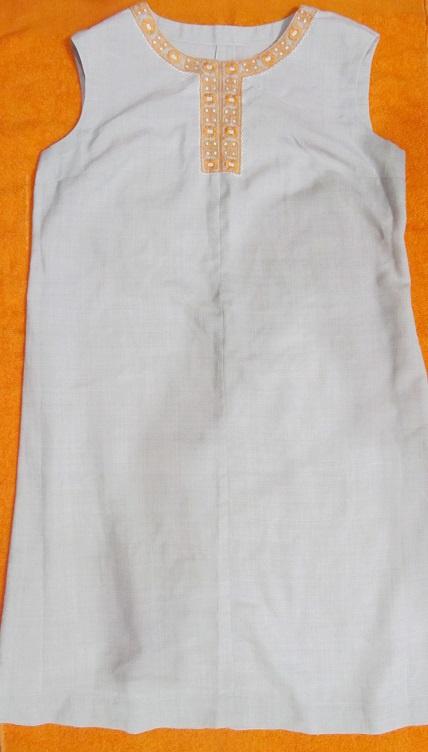 Платье летнее из льна, р. 50-52