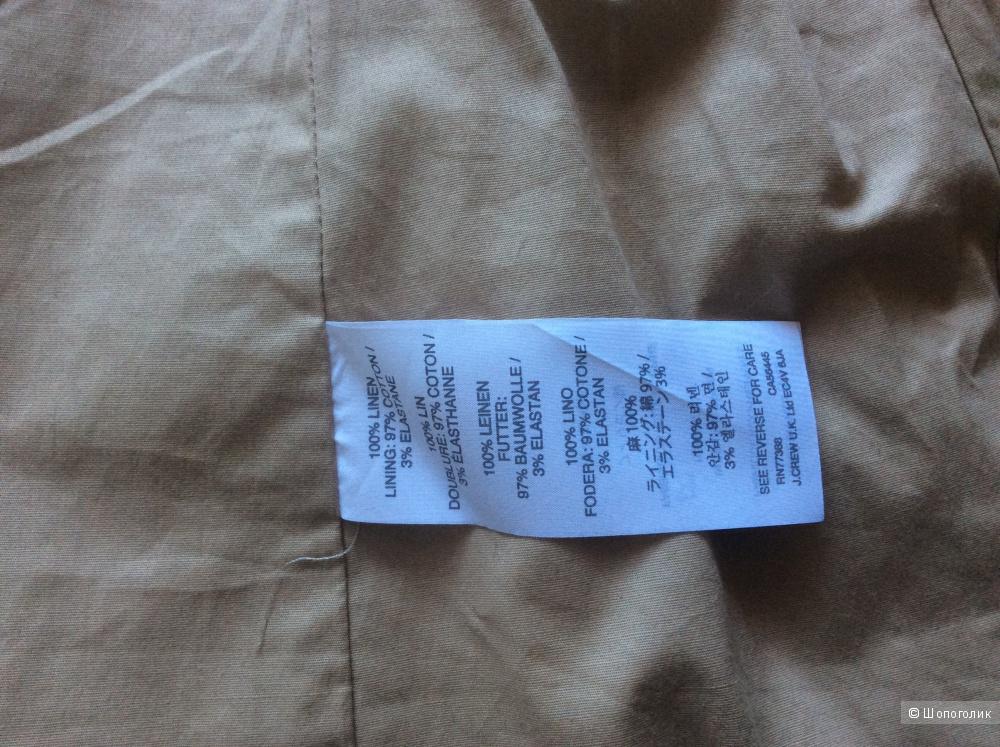 Новый льняной пиджак j.crew 6 us