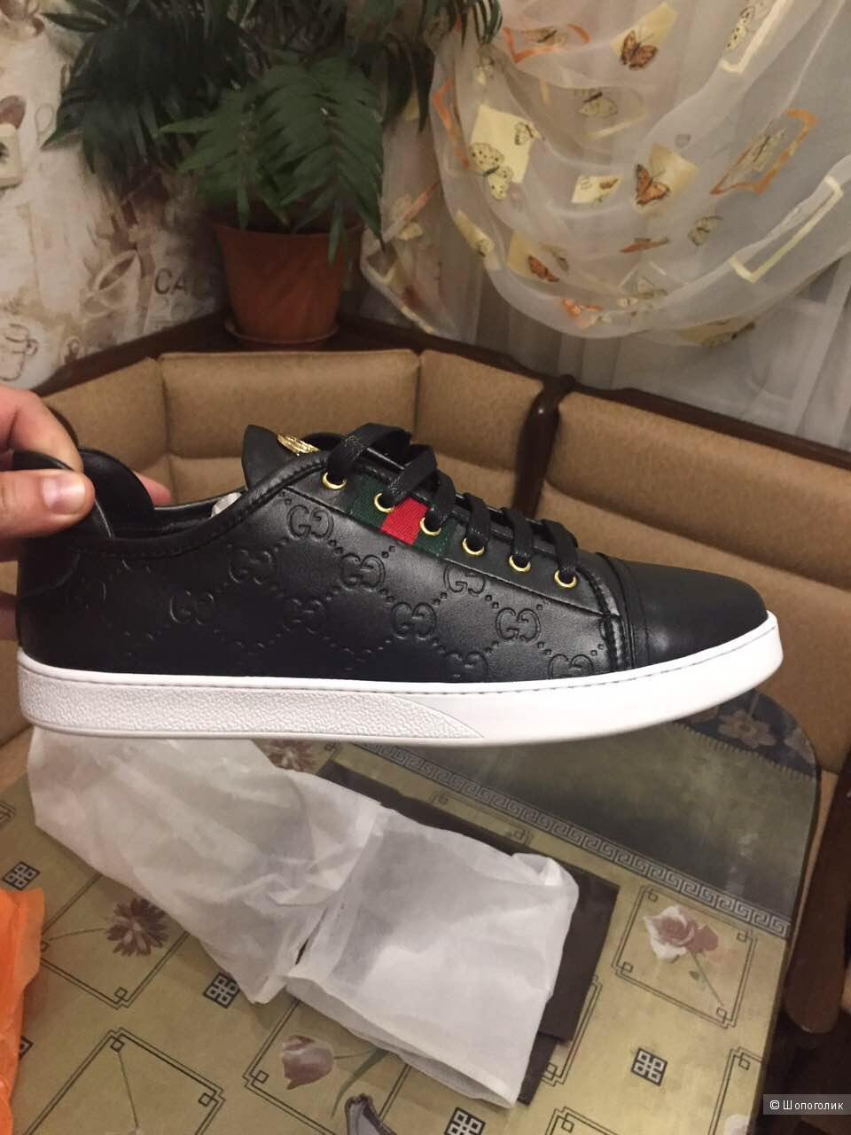 Gucci  новые мужские кроссовки 43,5 р