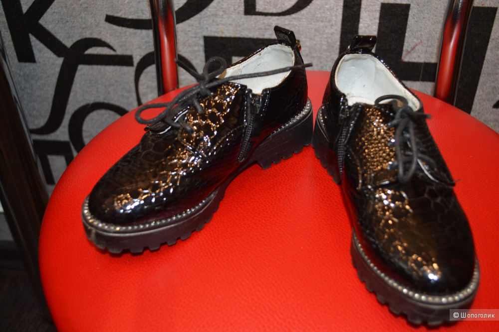 Гламурные ботиночки Meitesi для девочки р.28