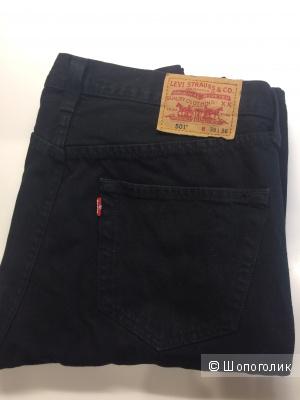 Джинсы мужские LEVI STRAUSS, серия 501, W 36 L 36 (русский размер 52, рост 189), черные, новые