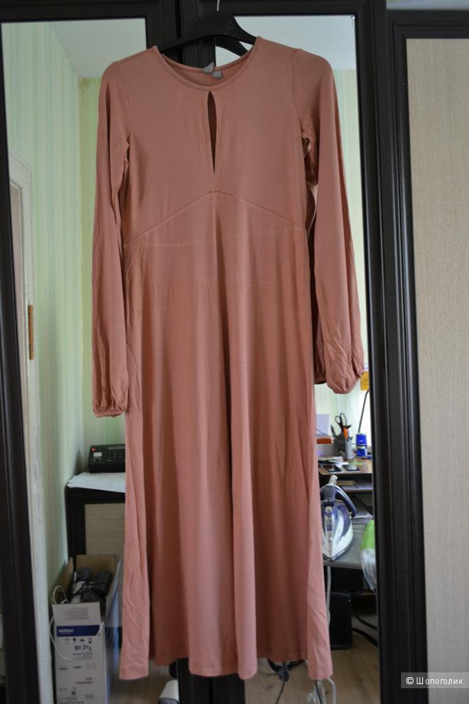 Платье миди c вырезом-капелькой ASOS - Терракотовый / 40