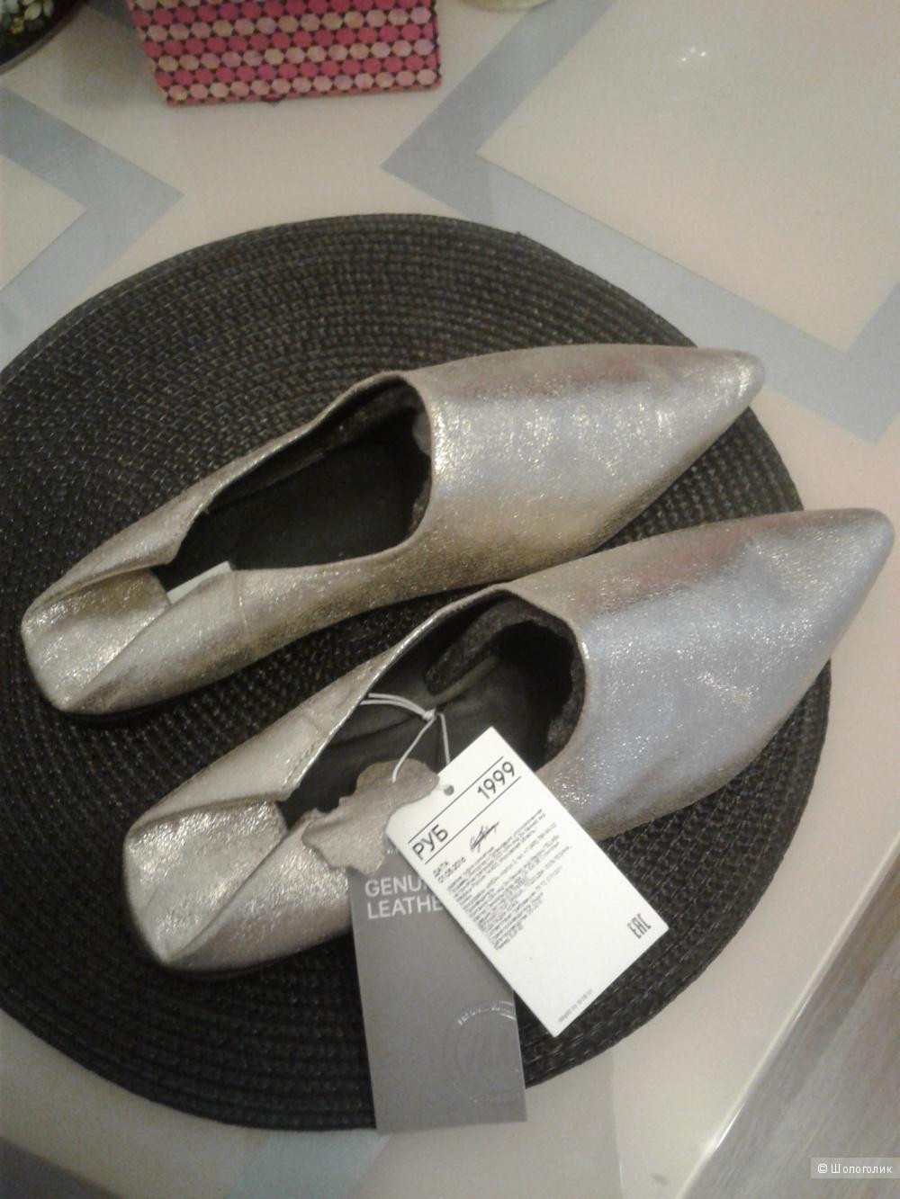 Новые бабуши из натуральной кожи от H&M размер 40