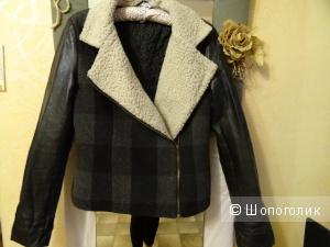 Куртка комбинированная, размер 42-44, б/у