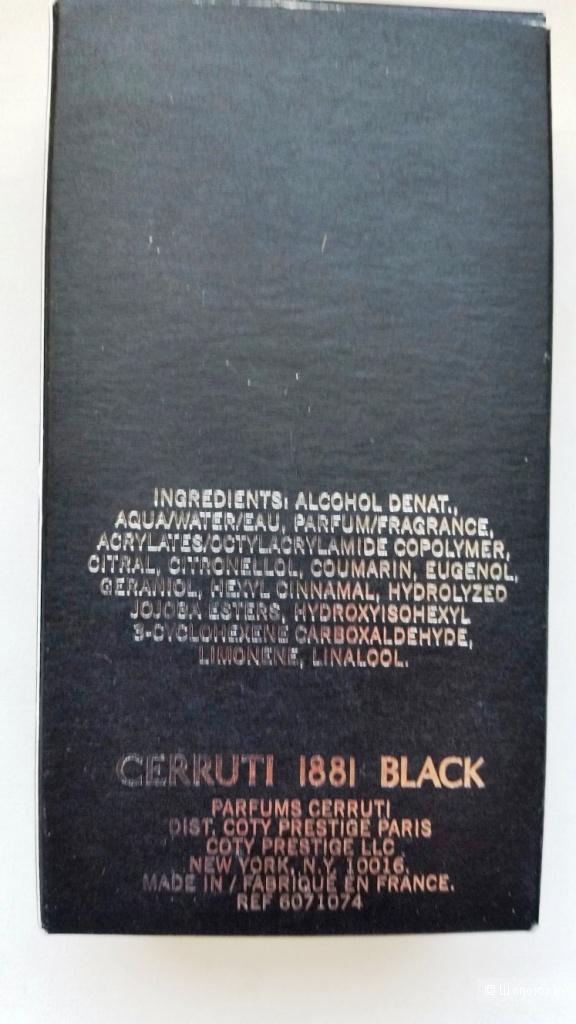 Туалетная вода Cerruti 1881 Black -25 мл