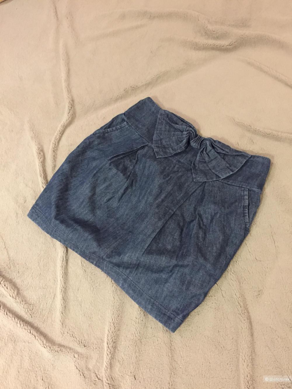 Джинсовая юбка бренда Pull and Bear, размер 42-44
