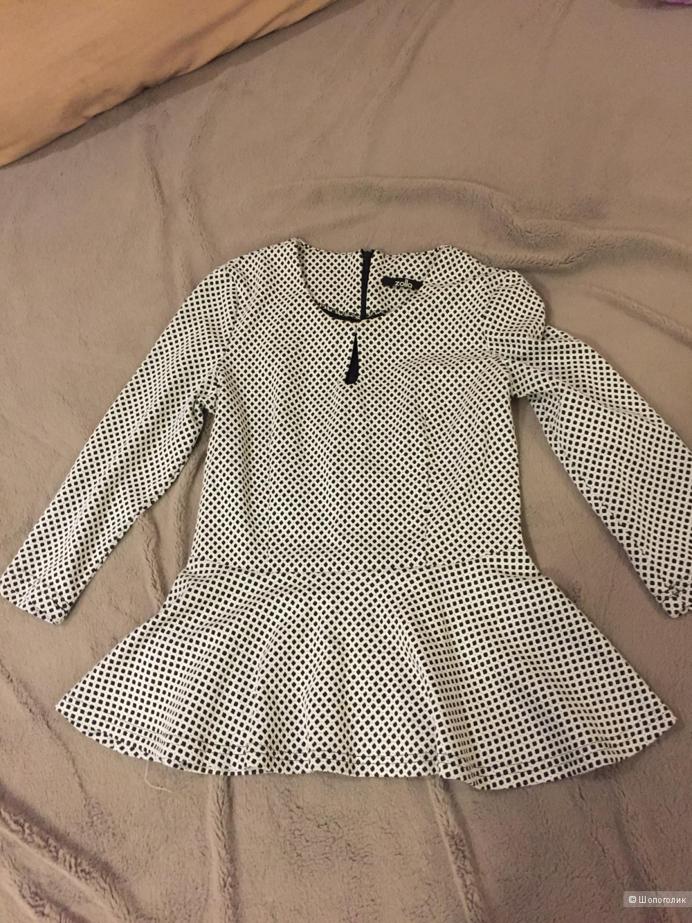 Блуза с баской бренда Zolla, размер 42-44