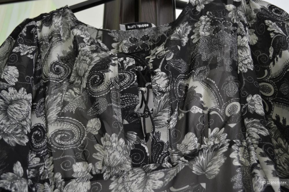 Платье макси с принтом пейсли и шнуровкой на лифе Style London размер S