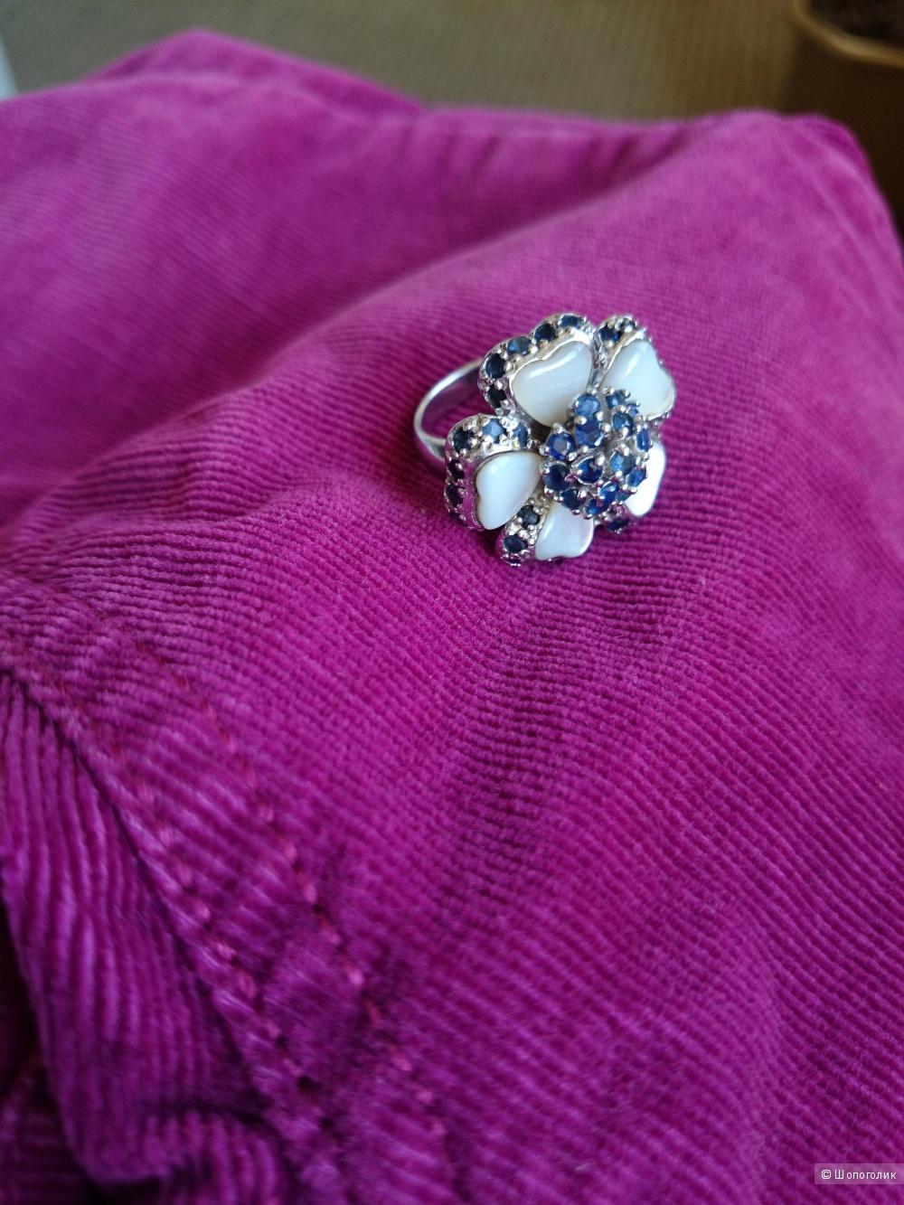 Кольцо, серебро 925 проба. Размер 16-16,5