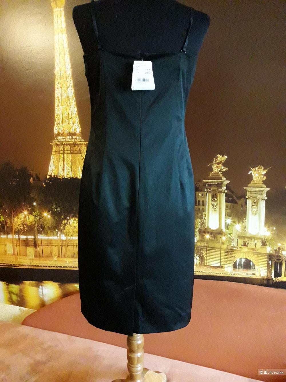 Комплект из платья и пояса с декоративной баской  LO  р 46