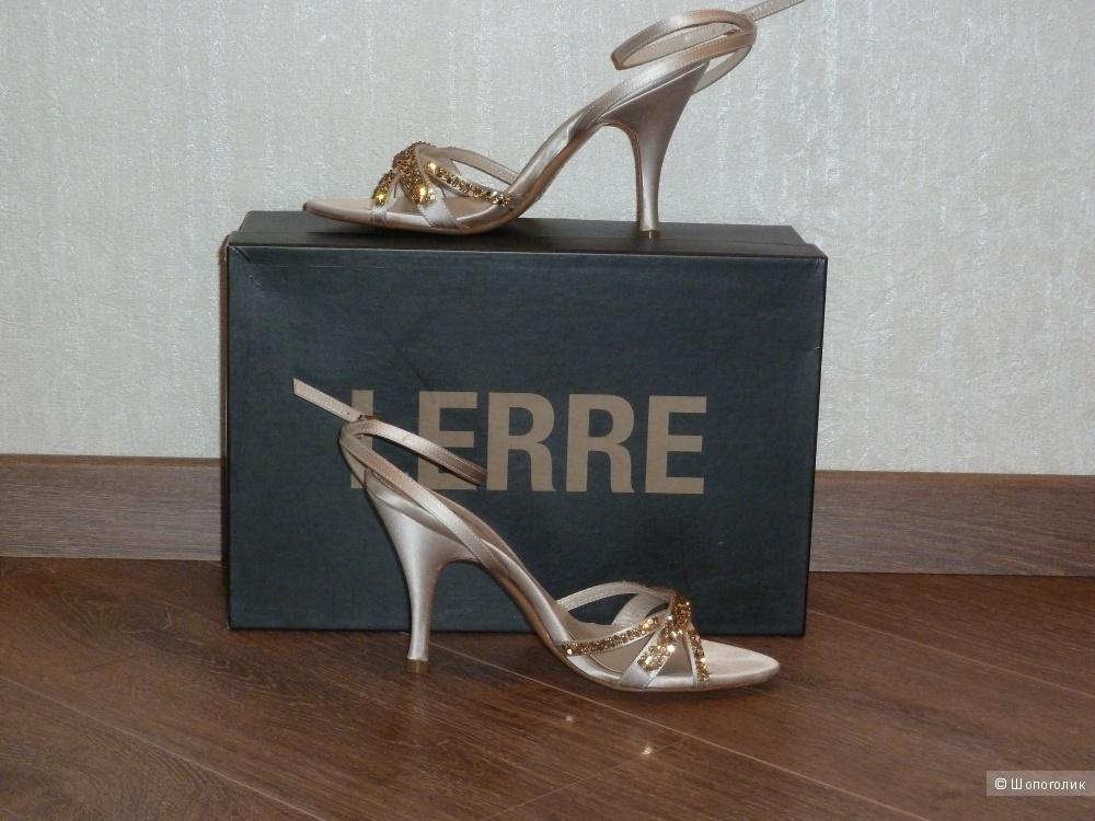 Шелковые босоножки Lerre, Италия, размер 36,5