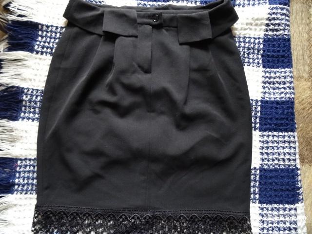 Юбка с фигурным поясом, размер 44, б/у