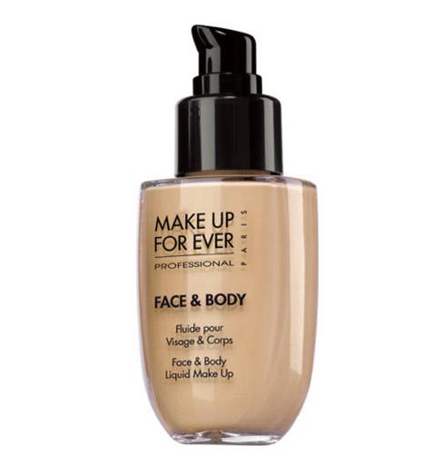 Make up for ever face & body жидкое тональное средство для лица и тела