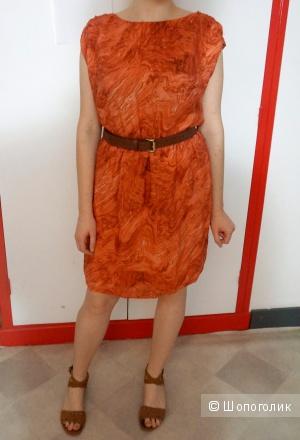 Платье Michael Kors терракотовое 100% шелк