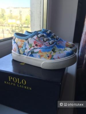 Vali floral canvas sneaker Ralph Lauren 5US новые