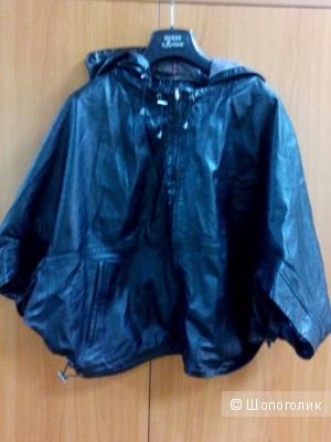 Двусторонняя кожаная куртка палантин от 44 до 48 размера