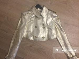 Кожаная куртка BURBERRY. Размер 42. Оригинал.