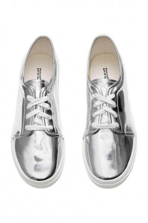 Новые  серебристые кеды, модный тренд сезона от H&M,размер 40.