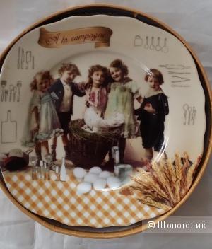 Два набора тарелок Nuova R2S (Италия) из 4 штук каждый «Дети» Д 20 см.