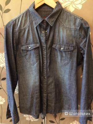 Рубашка джинсовая женская размер М бренд Gross