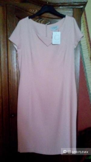 Новое платье cattonade, Франция.Размер 44 евро-наш 50-52 цвет пудра.