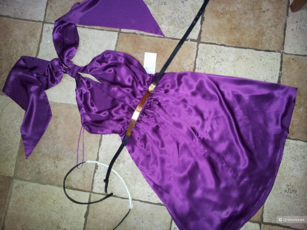 Коктейльное платье Mango 100% шёлк 44 -46 размер