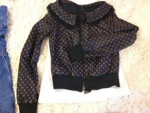 Кожаная куртка Fornarina. Размер S