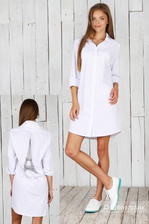 Стильное новое платье-рубашка р.М