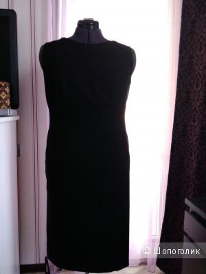 Платье из тонкой шерсти Escada Sport, черного цвета, р-р 50-52