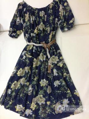 Платье с цветочным принтом Mango