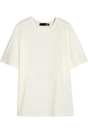 Футболка Love Moschino, размер 46it, на рос. 50-52. Белая.