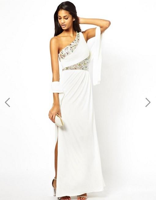 Белое платье макси Forever Unique для торжественного случая, размер 42-44