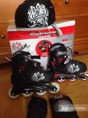 Роликовые коньки, шлем, защита  Bladerunner Phaser XR Cube