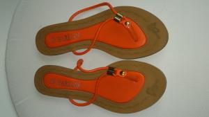Шлепанцы оранжевые, размер 38