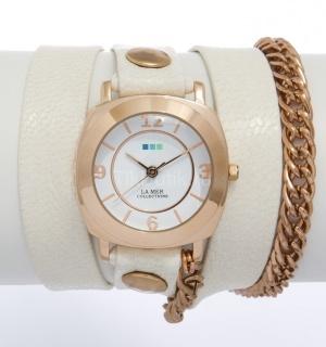 """Новые часы La Mer Collections """"Chain Glam Eggshell/Rose Gold"""""""