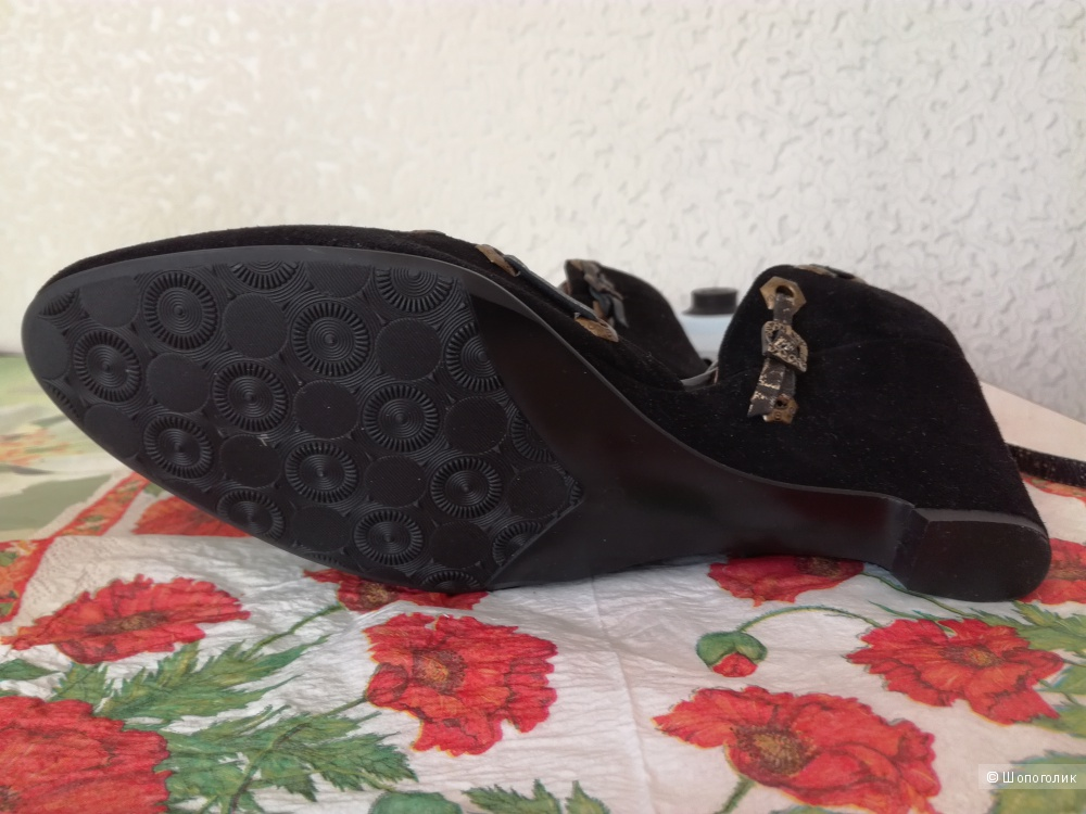 Туфли, натуральная замша. 38-39 р, Турция