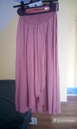 Красивая длинная юбка ,Турция, терракотовый цвет, на размер 44-46