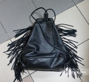 """Сумка- мешок  Victoria""""s Secret c  бахромой из экококожи"""
