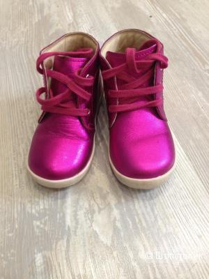 Низкие ботинки на шнуровке для девочки