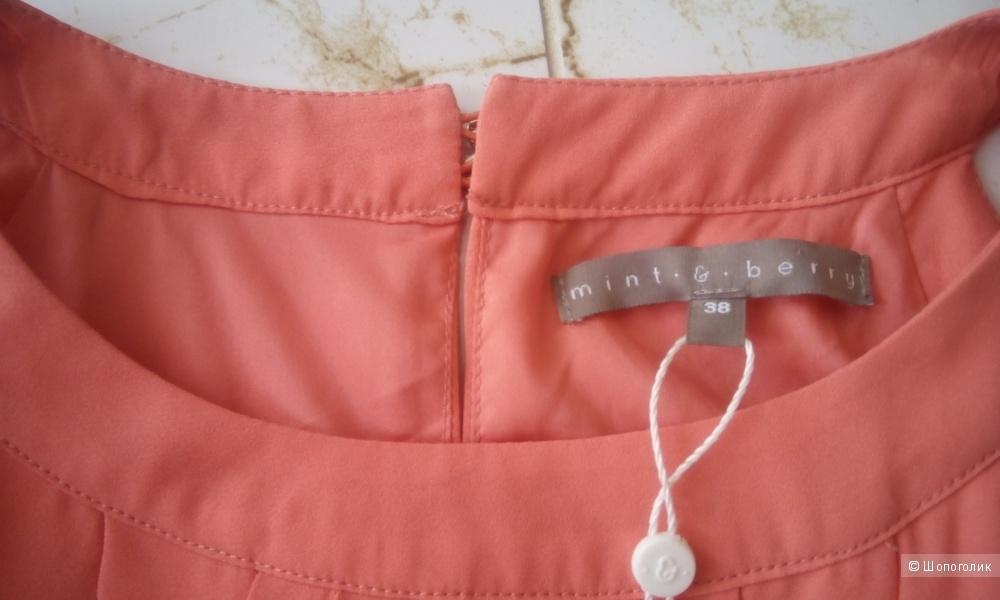 Красивое кораллового цвета платье в пол Mint&berry размер 38 евро
