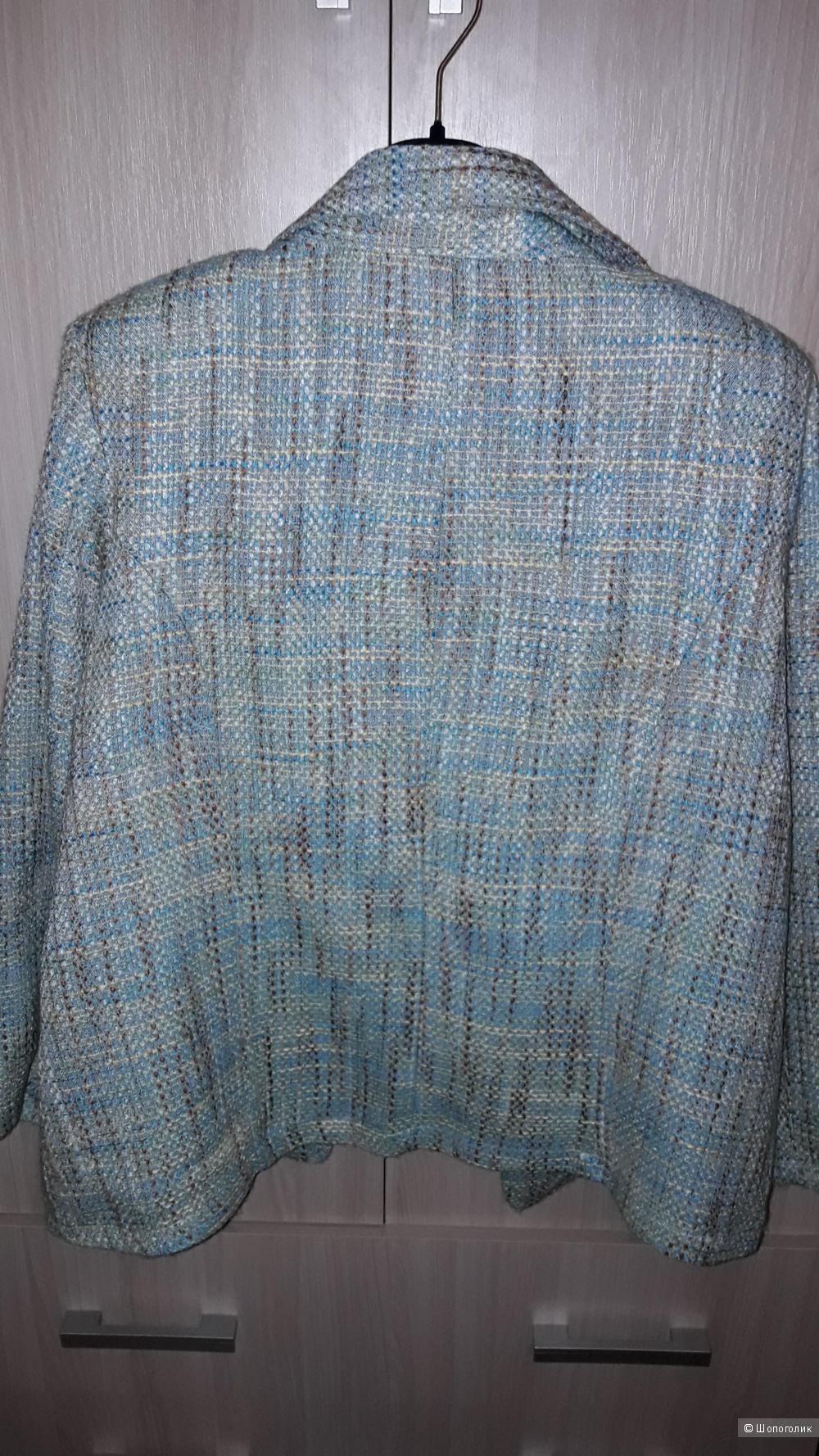 Пиджак женский твидовый Della Citta размер 54