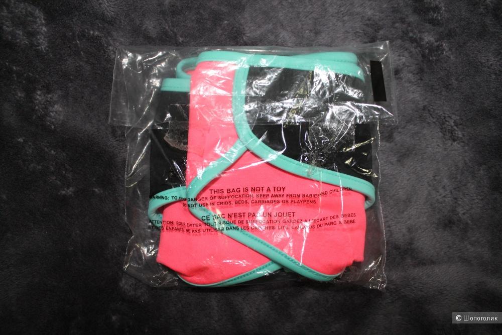 Victoria's Secret плавки, двусторонние, размер XS, розово-черно-бирюзовые