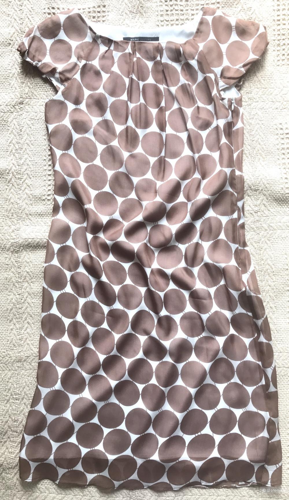 Платье в горошек на российский 40 размер