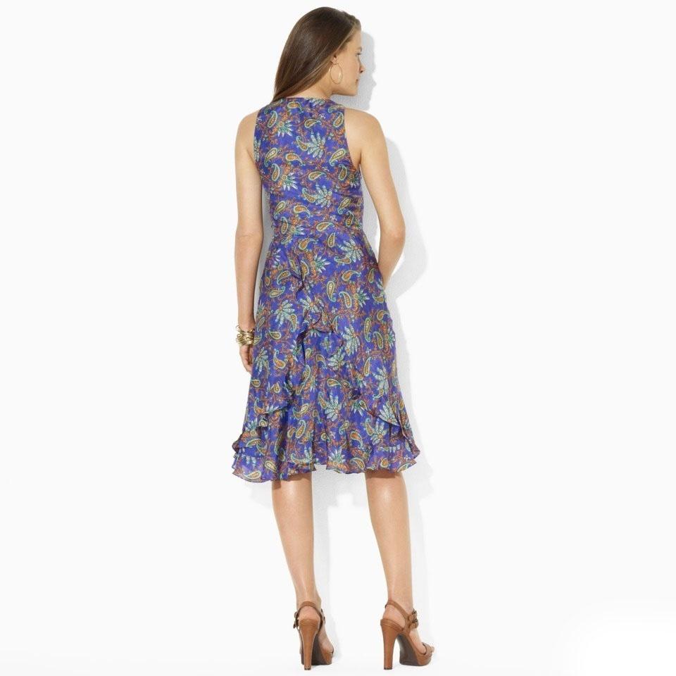 Платье Ralph Lauren, шелк, размер 10Petite Платье