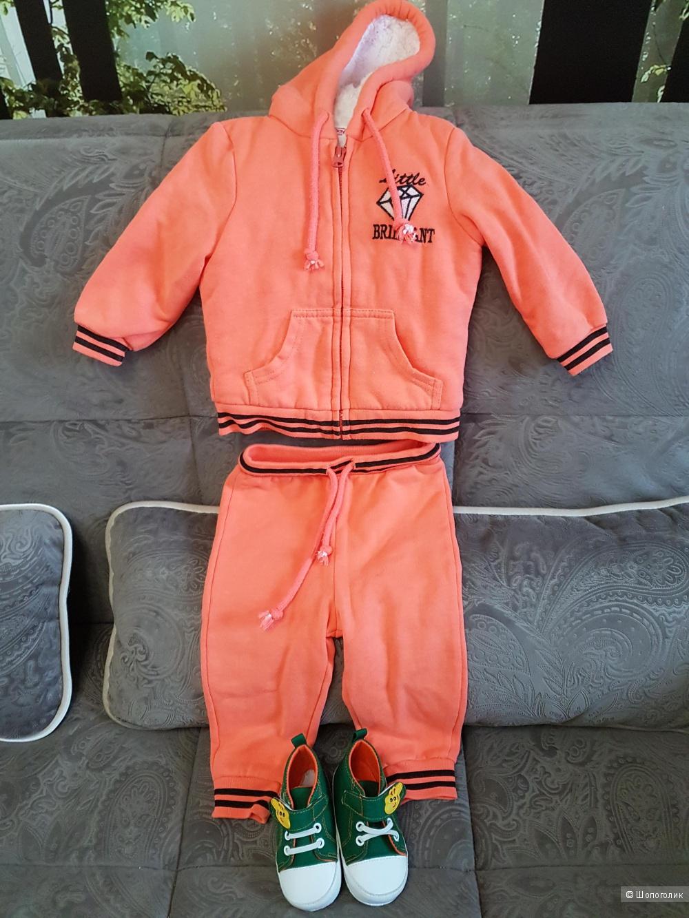 Спортивный костюм с пинетками