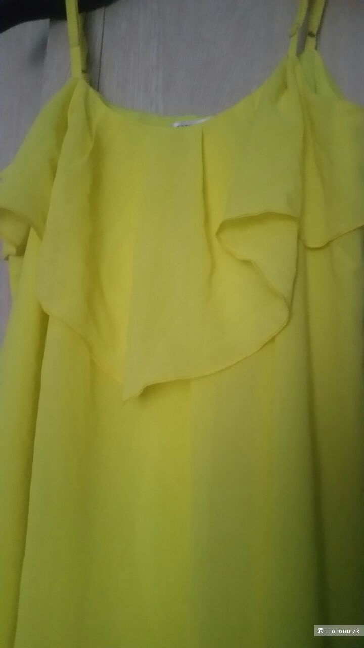 Желтое платье 48-50 xl