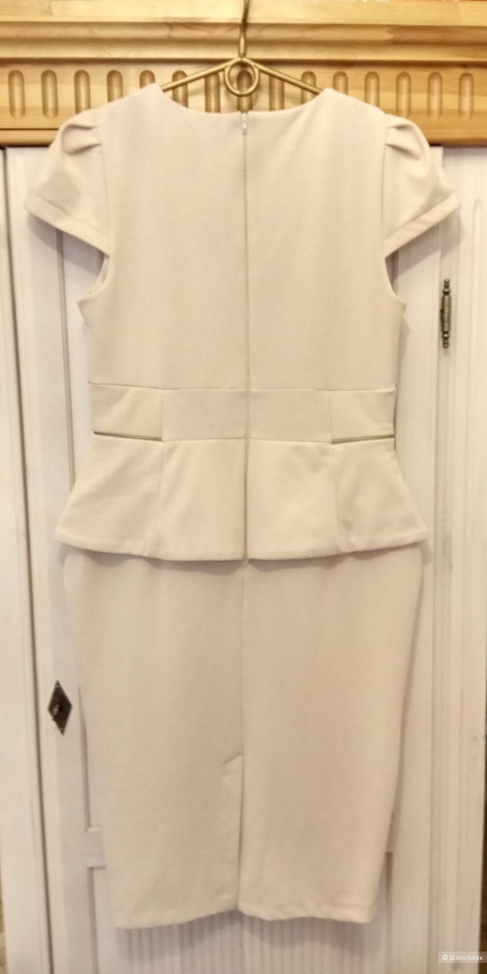 Платье кремового цвета,ASOS, примерно 50 размер