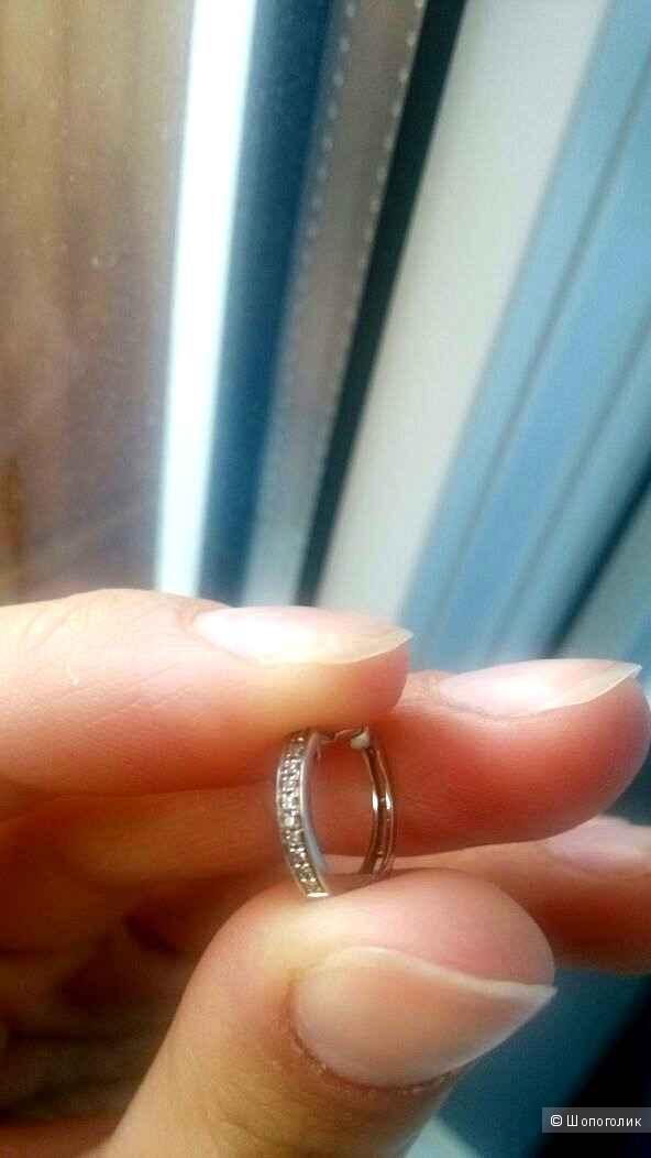 Серьга Sunlight белое золото с бриллиантами