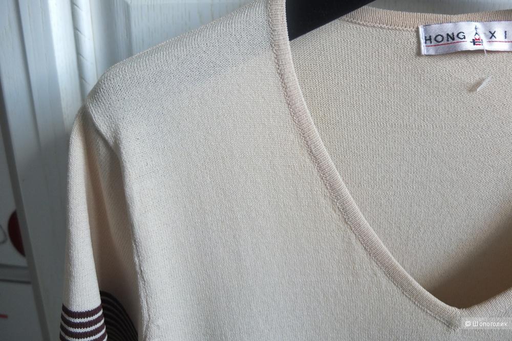 Кофта бежево-коричневого цвета, размер 42-44