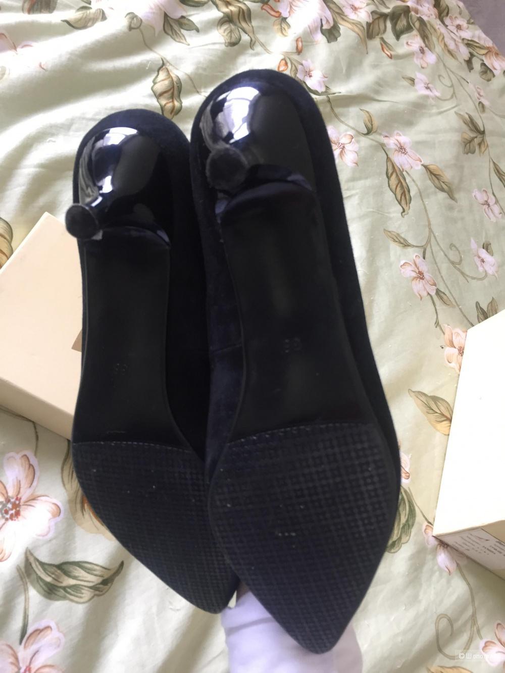 Туфли замшевые 37р.